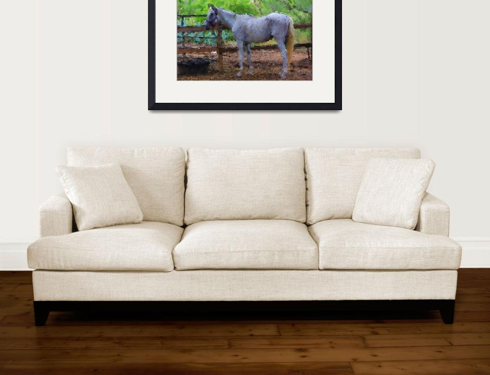"""""""Gray Horse&quot  (2012) by lisaarundale"""