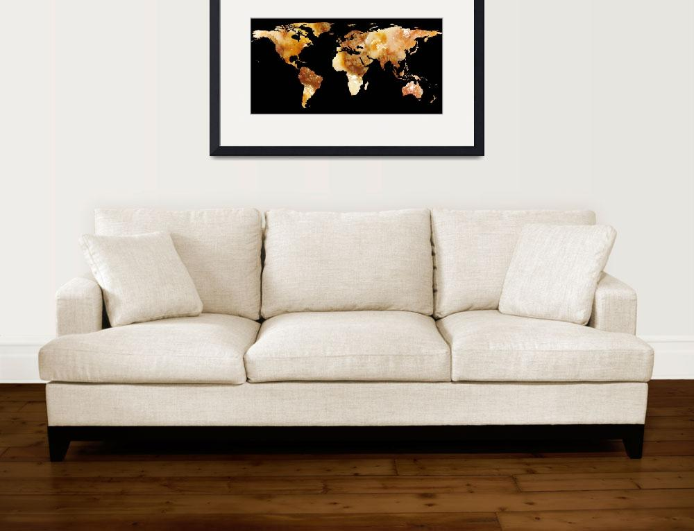 """""""World Map Silhouette - Sausage Pizza&quot  by Alleycatshirts"""