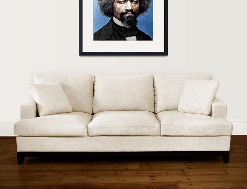 """""""Frederick Douglass Painting In Color&quot  (2015) by RubinoFineArt"""