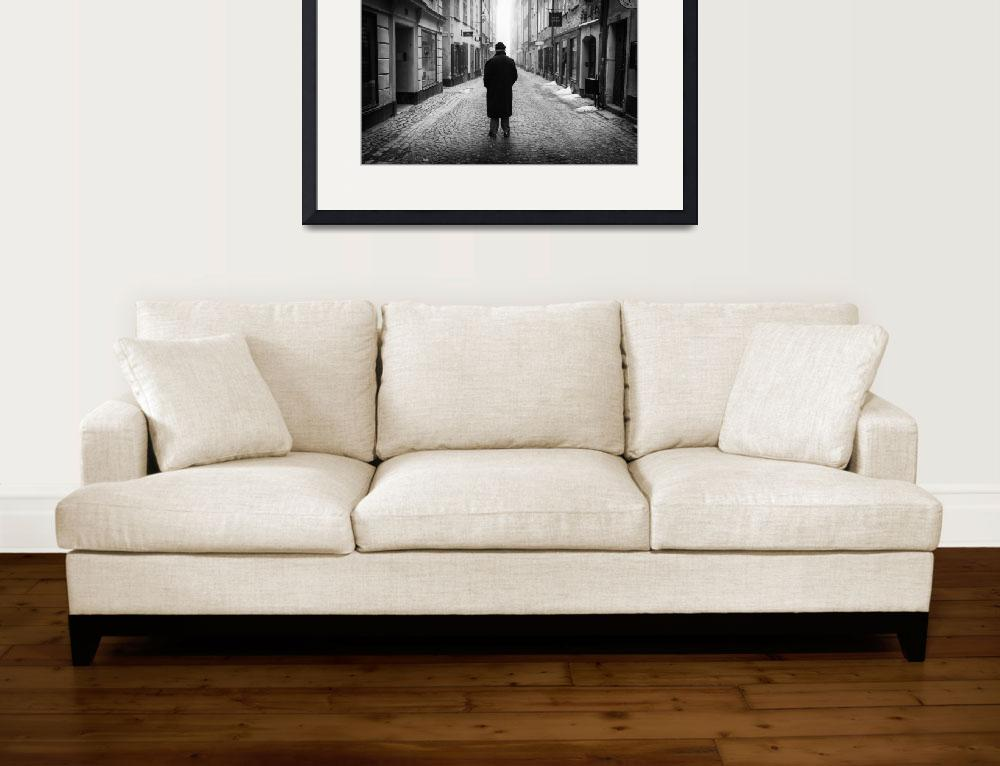 """Black and White Photo Framed Print&quot  by buddakats1"