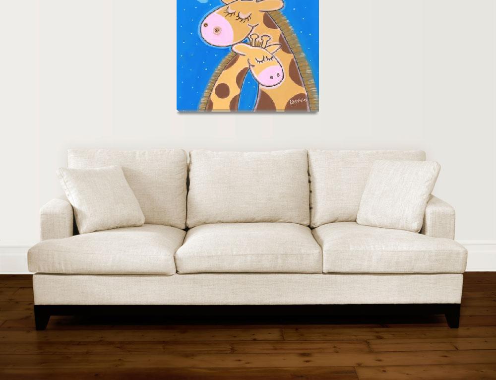 """""""Giraffe Cuddles""""  by annetterosenfeldt"""