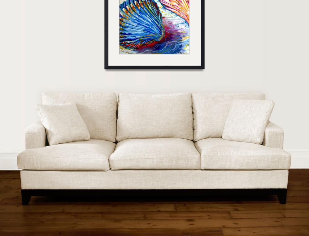 """SEASHELLS ABSTRACT""  (2010) by MBaldwinFineArt2006"