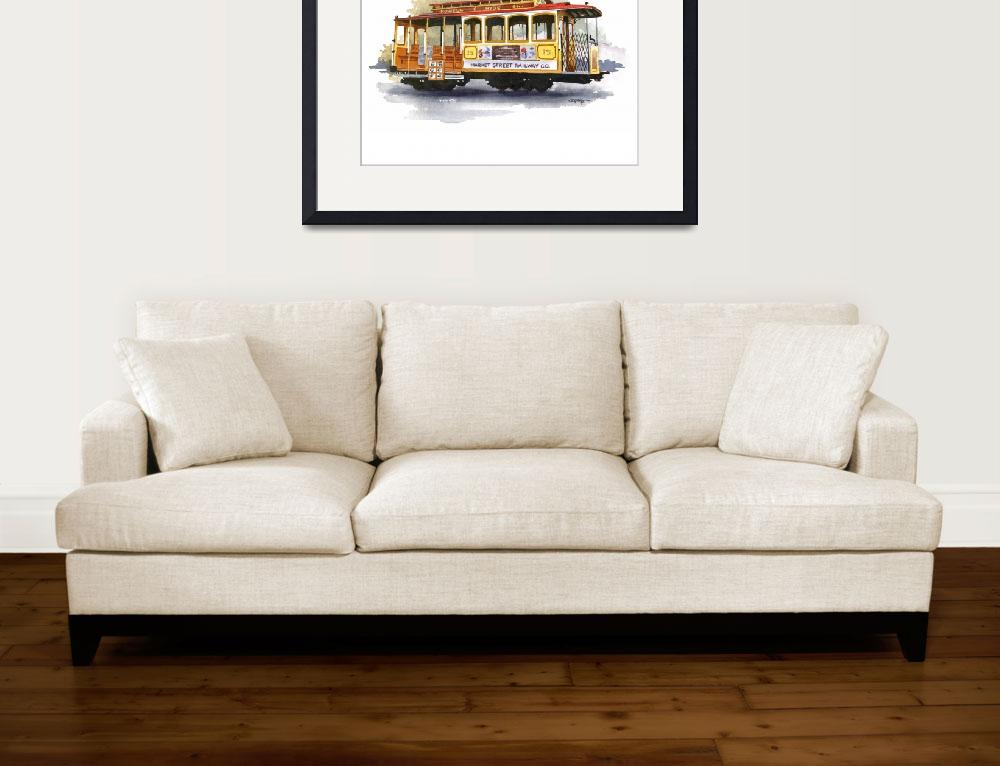 """""""Cable Car&quot  (2015) by k9artgallery"""