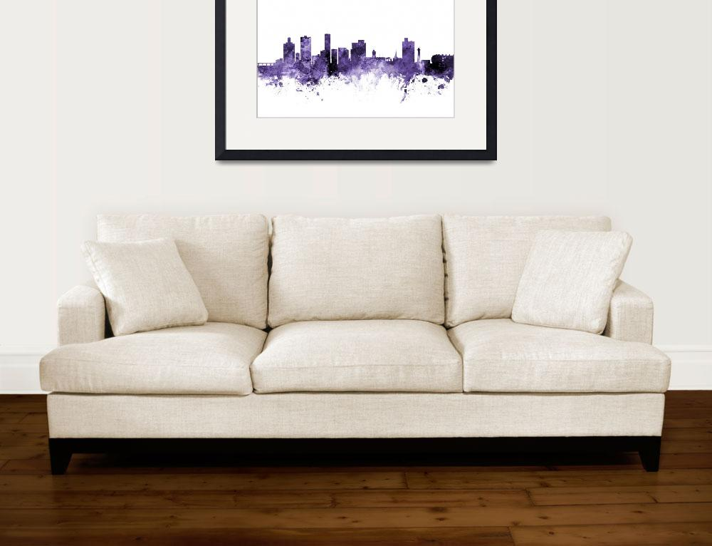 """Port Elizabeth South Africa Skyline&quot  (2018) by ModernArtPrints"