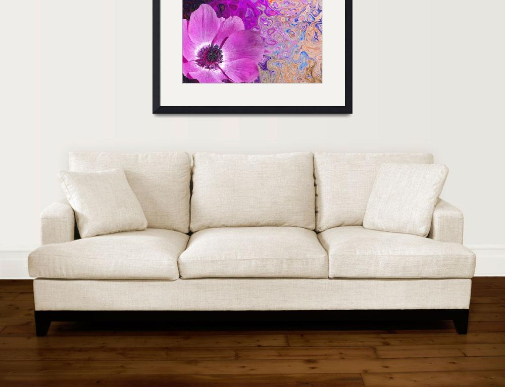 """""""Crazy Flowers Collection Framed Print""""  by buddakats1"""