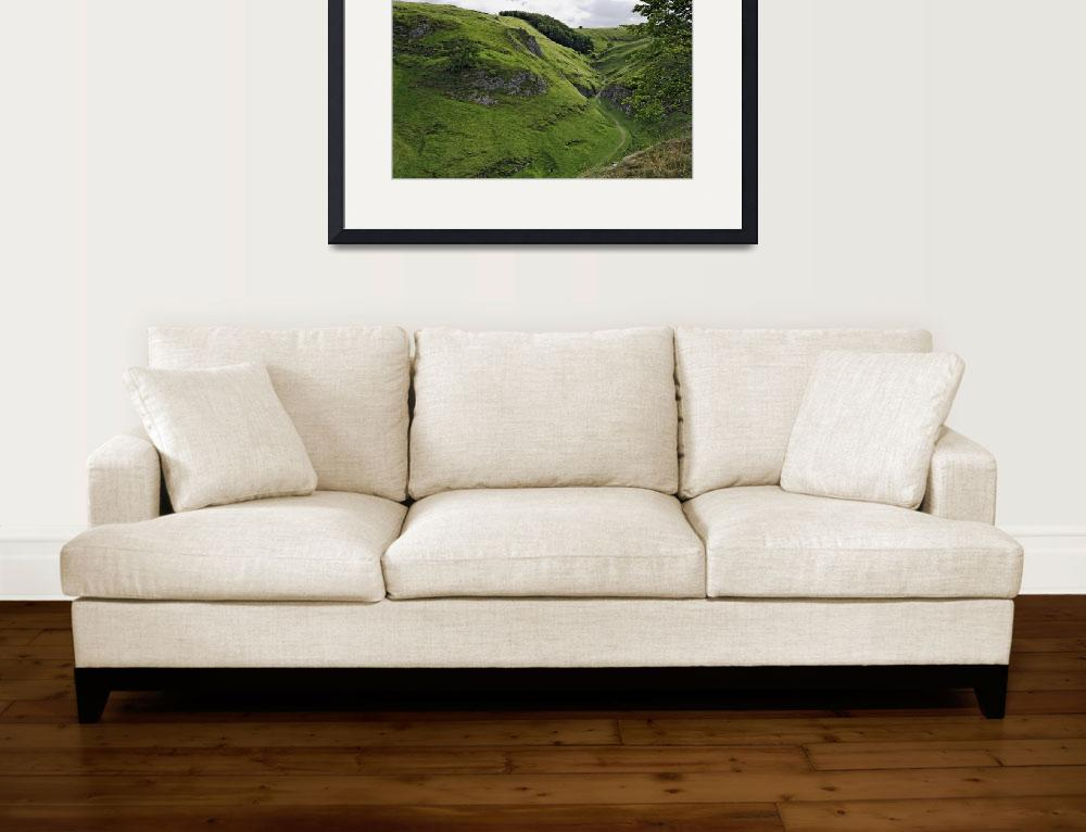 """""""Cave Dale from Peveril Castle (39495-RDA)&quot  (2013) by rodjohnson"""