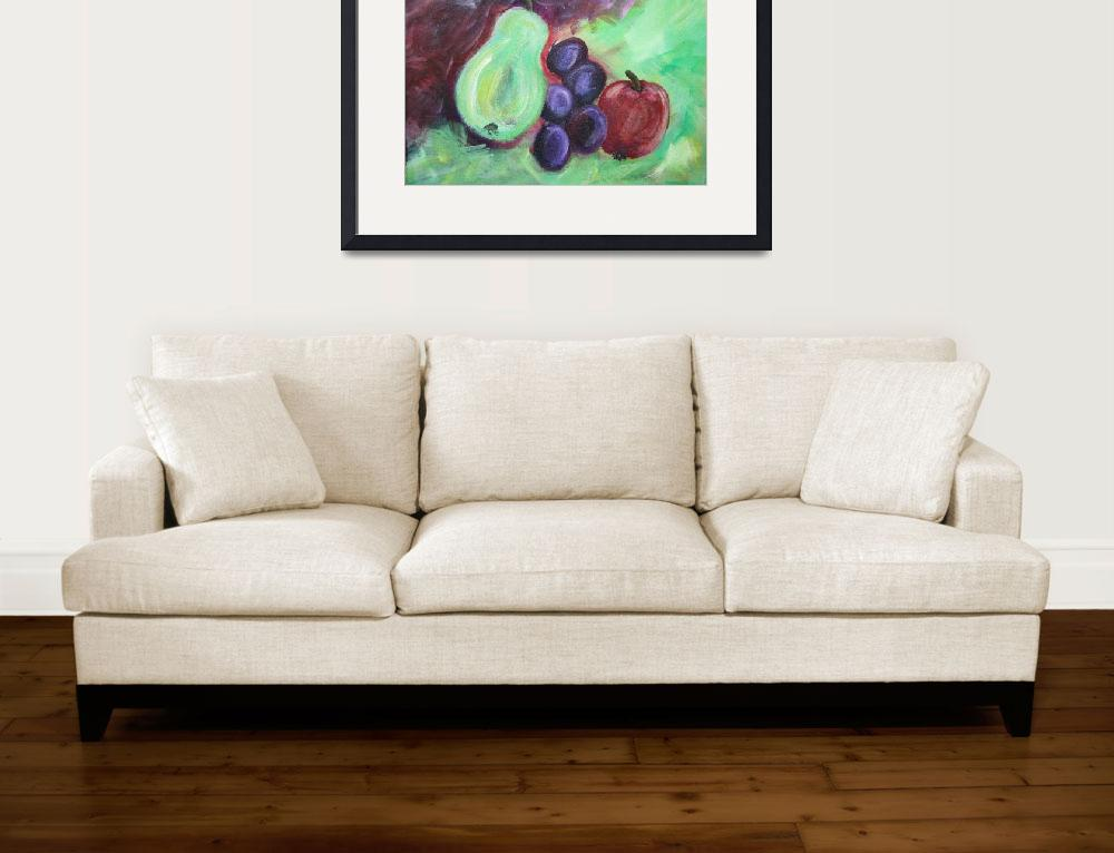 """""""Fruit Abstract&quot  (2012) by watersedge"""