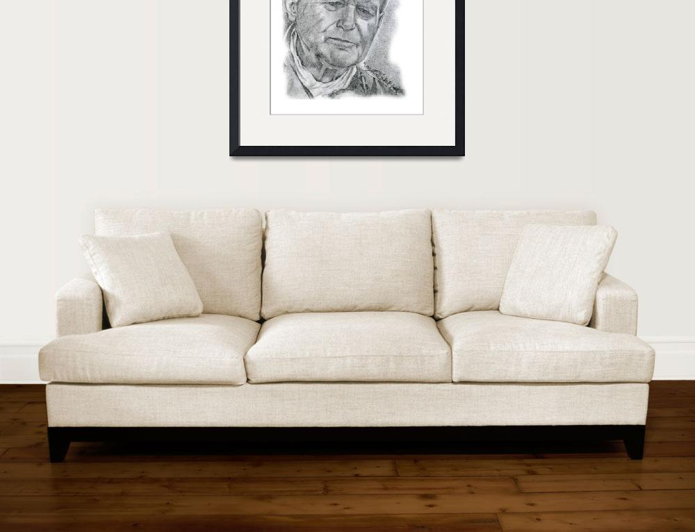 """Hand Drawn Portrait of Pope John Paul II&quot  by CreativeArtisticNuance"