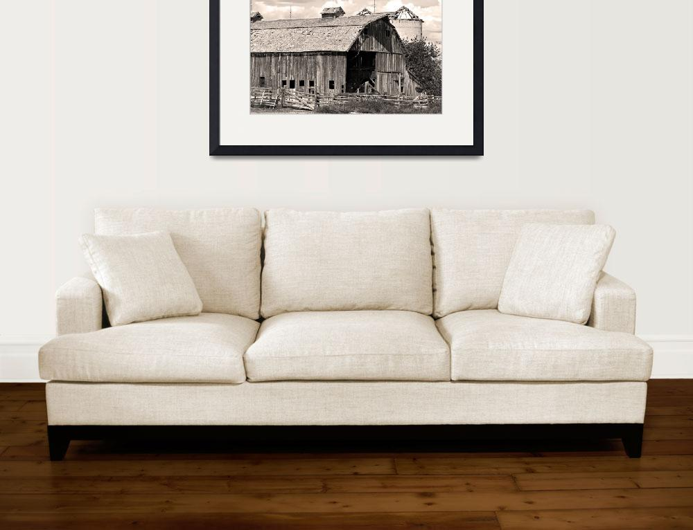 """""""Old Boulder County Colorado Weathered Barn&quot  (2010) by lightningman"""