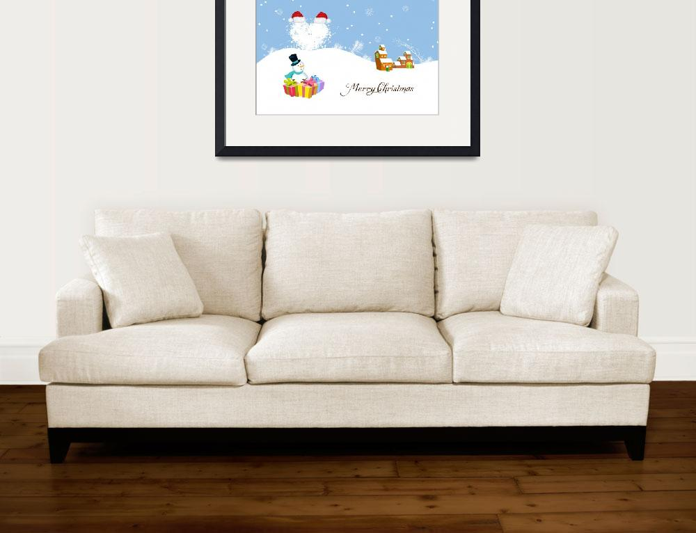 """""""Merry christmas with snowman&quot  (2013) by ngocdai86"""
