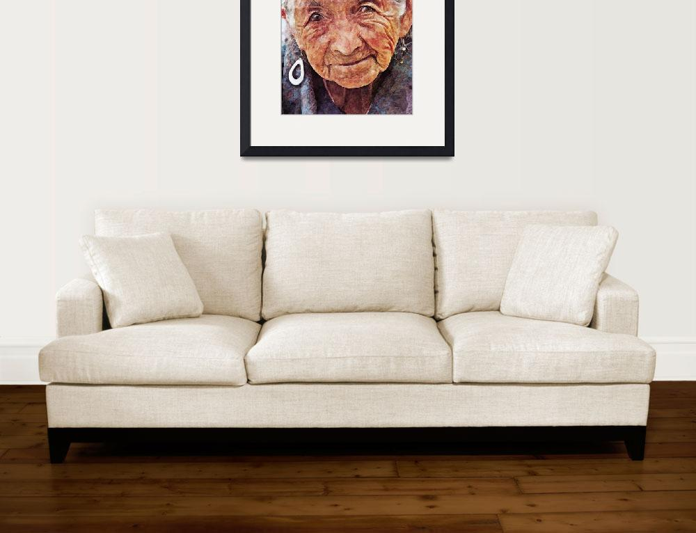 """""""Portrait of old woman&quot  (2011) by rustydoubleohseven"""