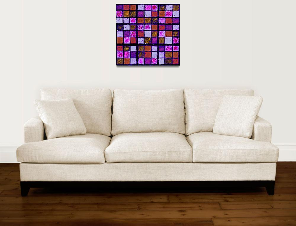 """Sudoku Abstract Violet Orange&quot  (2012) by KsWorldArt"