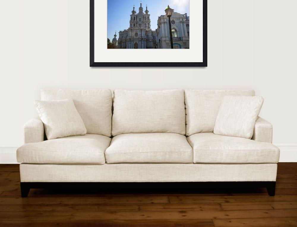 """""""St. Petersburg Smolny Cathedral&quot  (2013) by madeline"""