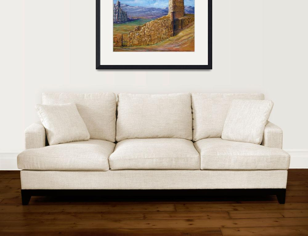 """""""Southwest Art; Crumbling Old Mission&quot  (2007) by Lenora"""