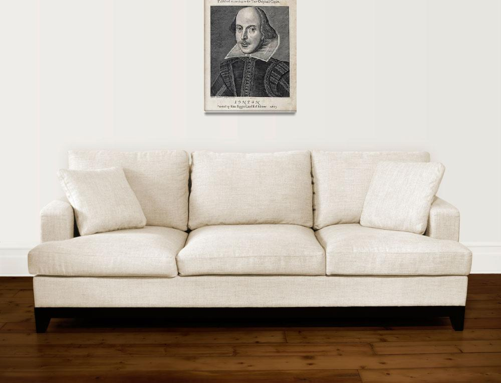 """William Shakespeare Portrait""  by Alleycatshirts"