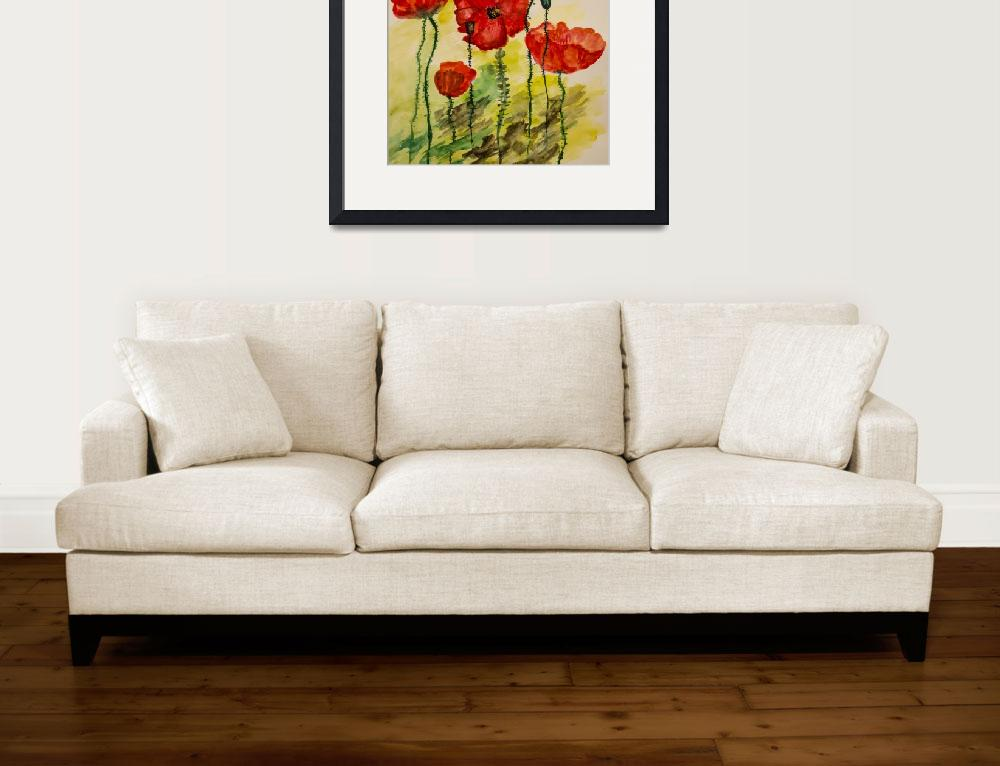 """""""Watercolor painting of poppies""""  by CatalinaPanait"""