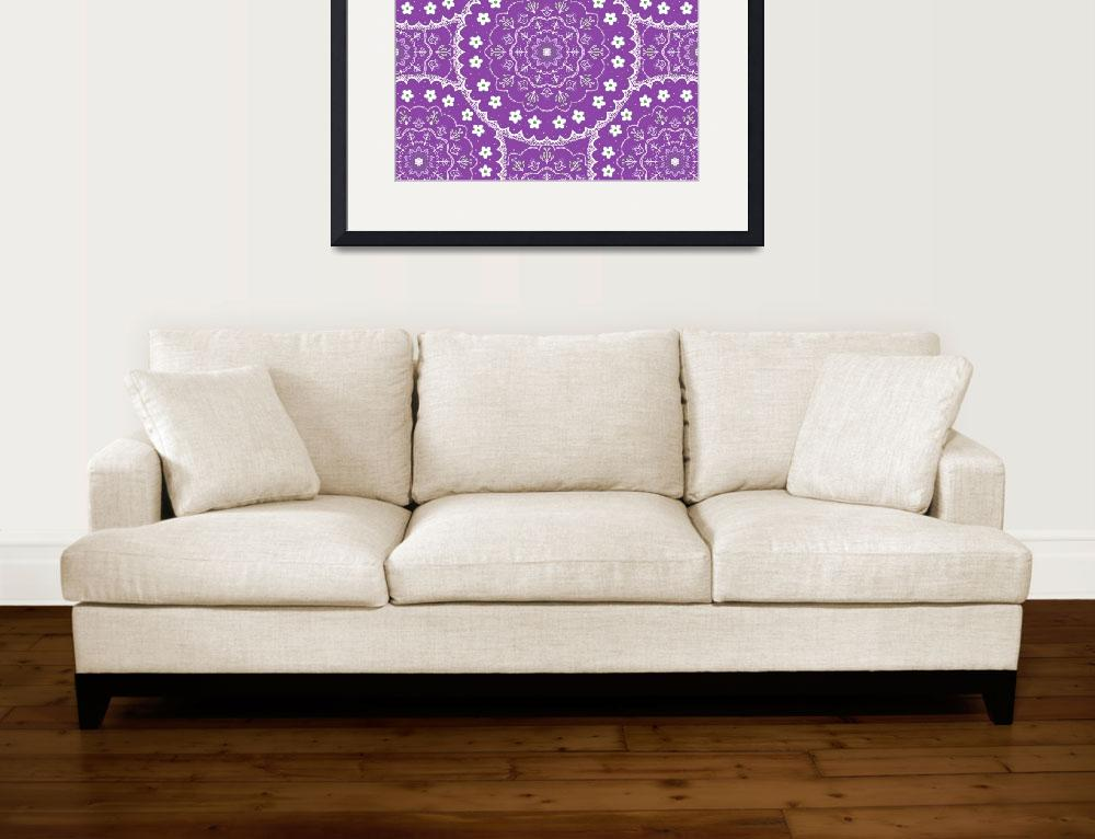"""Purple Mandala Design&quot  (2015) by CristinaBianco"