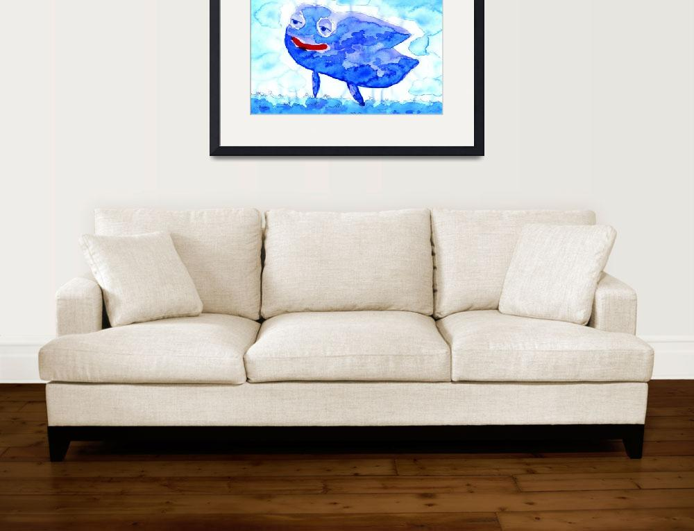 """""""Flying Blue Whale&quot  (2011) by francisfung"""