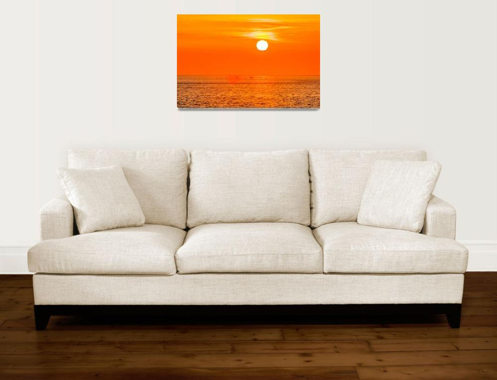 """""""sunset at sea with multiple color prizm&quot  by digidreamgrafix"""
