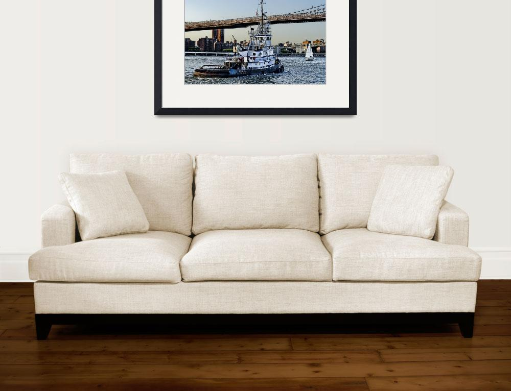 """Tug Boat along the East River&quot  (2014) by New-Yorkled"