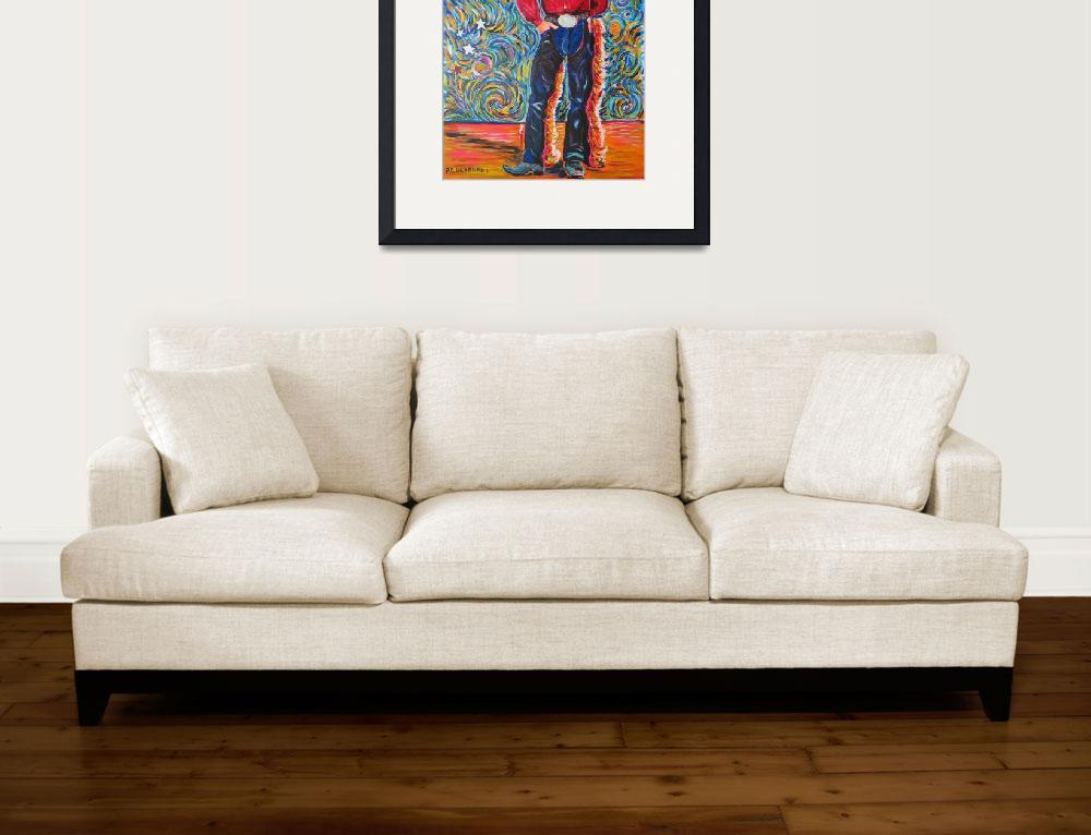 """""""Cowboy with Red Shirt&quot  (1996) by RDRiccoboni"""