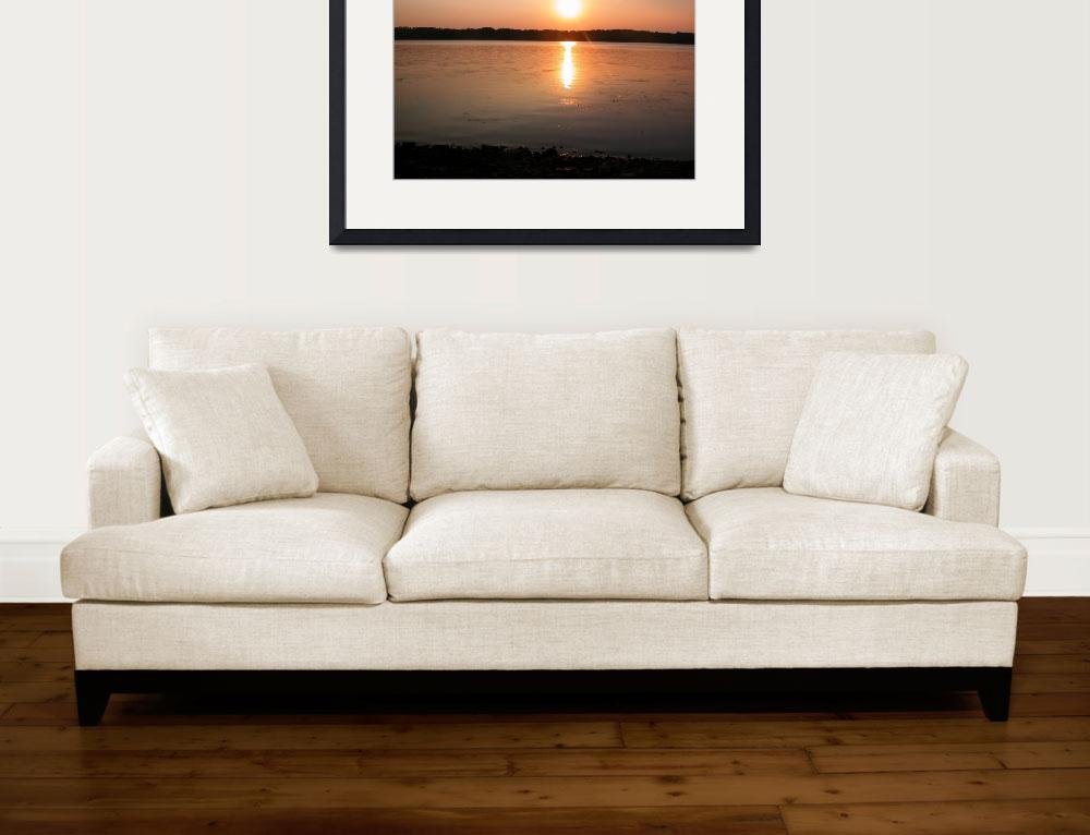 """""""Sunset on the River&quot  (2007) by LaBoure"""