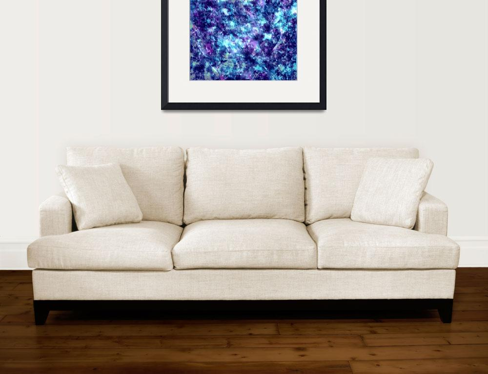 """""""Blue and Purple Gemstones&quot  (2018) by waynecantrell"""