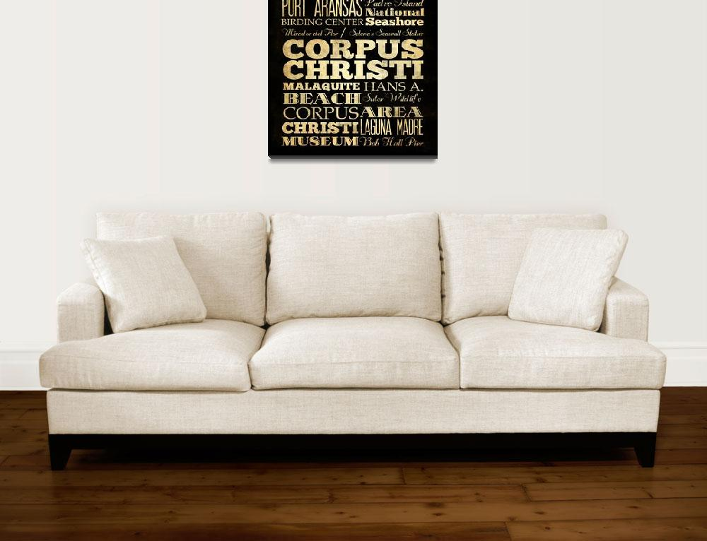 """""""LHA-214-Canvas-AG-US-City-CORPUS CHRISTI-18X24""""  by JoyHouseStudio"""