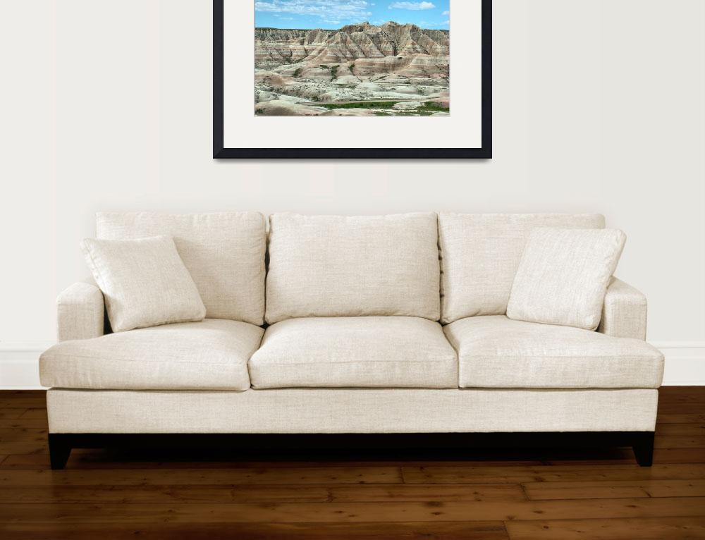 """""""Badlands Buttes&quot  (2008) by CarrieBeets"""