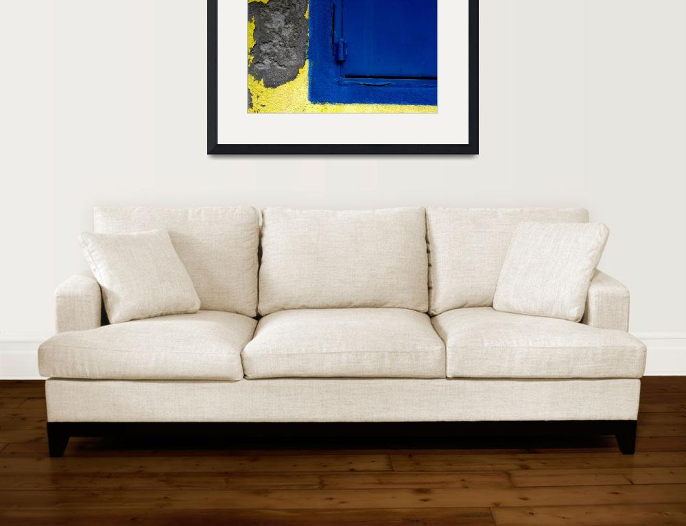 """""""BLUE ON YELLOW & CONCRETE, #1&quot  (2013) by nawfalnur"""