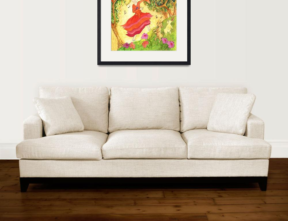 """""""Dance in Red Dress, Fantasy,by Mariankko&quot  by MarianneIlevitzky"""