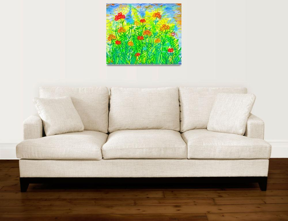 """""""Hearts Garden&quot  (2012) by SandraGouldFord"""