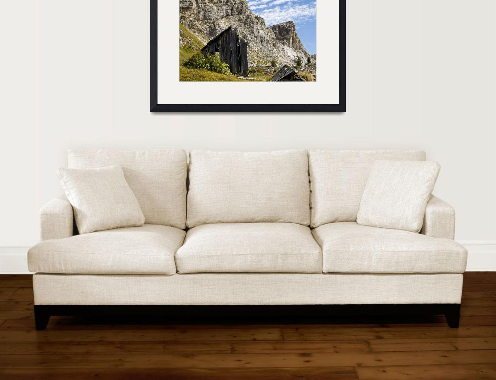 """""""Dolomite Mountains, Layered Clouds, Layered Rock&quot  (2013) by davidhowell"""