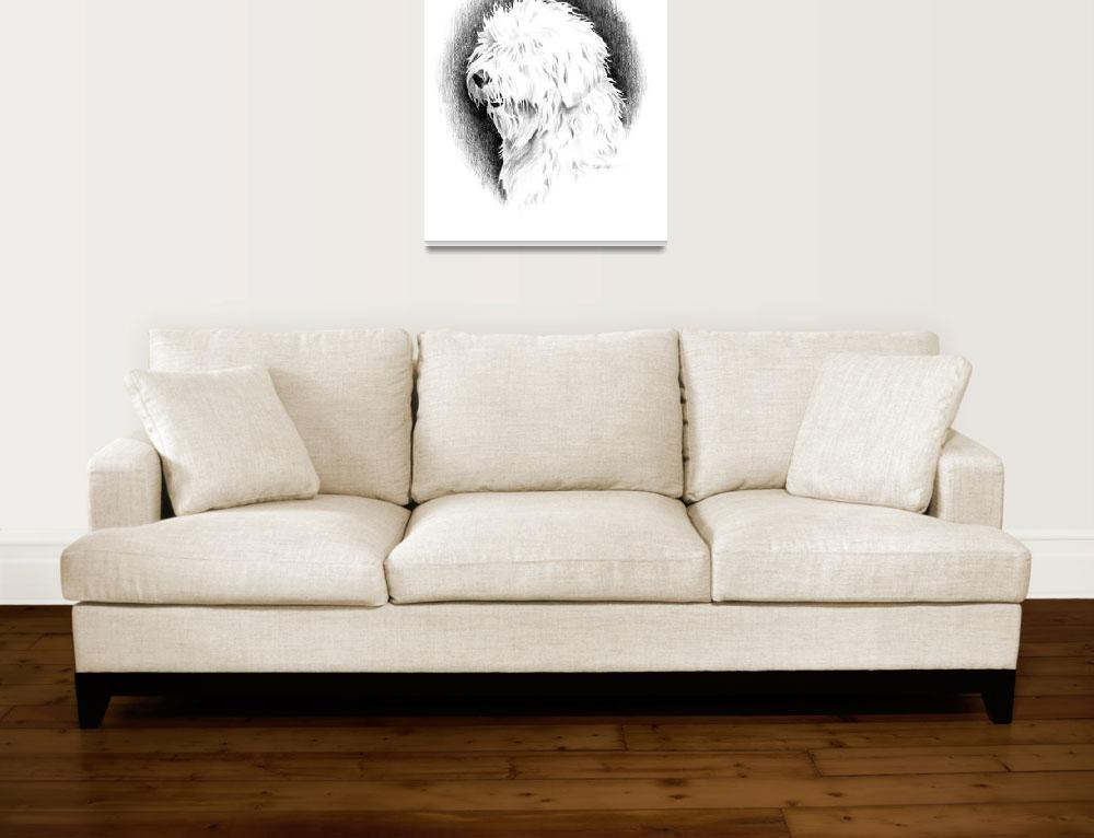 """Old English Sheepdog&quot  (2017) by k9artgallery"