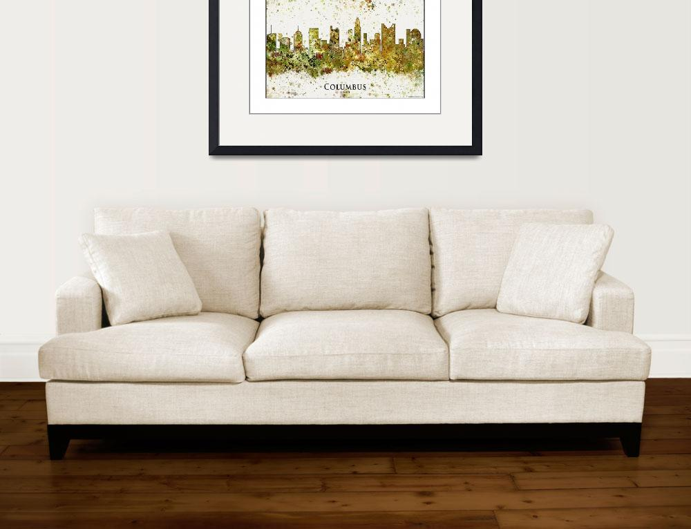 """""""columbus oh&quot  by WaterColorMaps"""