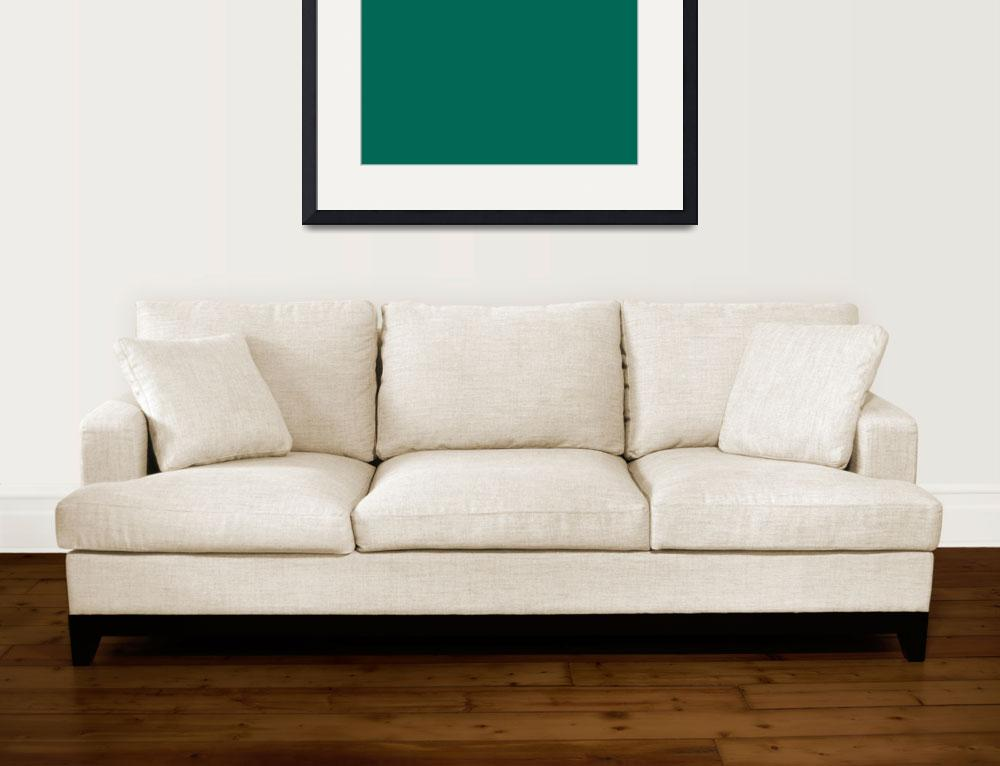 """""""Square PMS-336 HEX-006854 Green&quot  (2010) by Ricardos"""