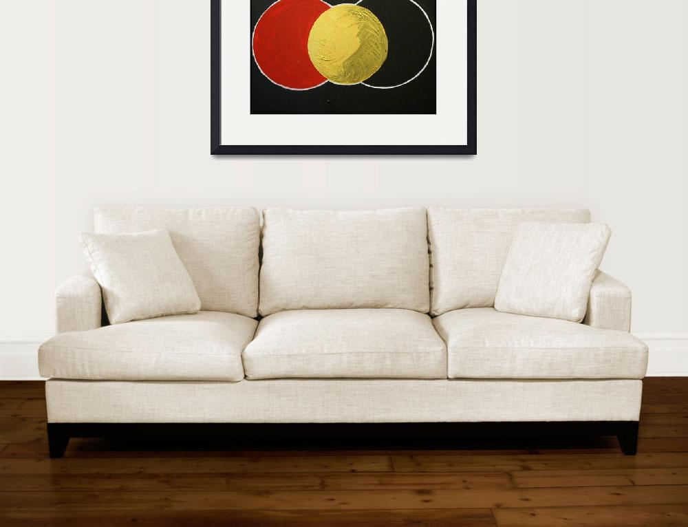 """""""Three Eclipses&quot  (2009) by Tonyvincentart"""