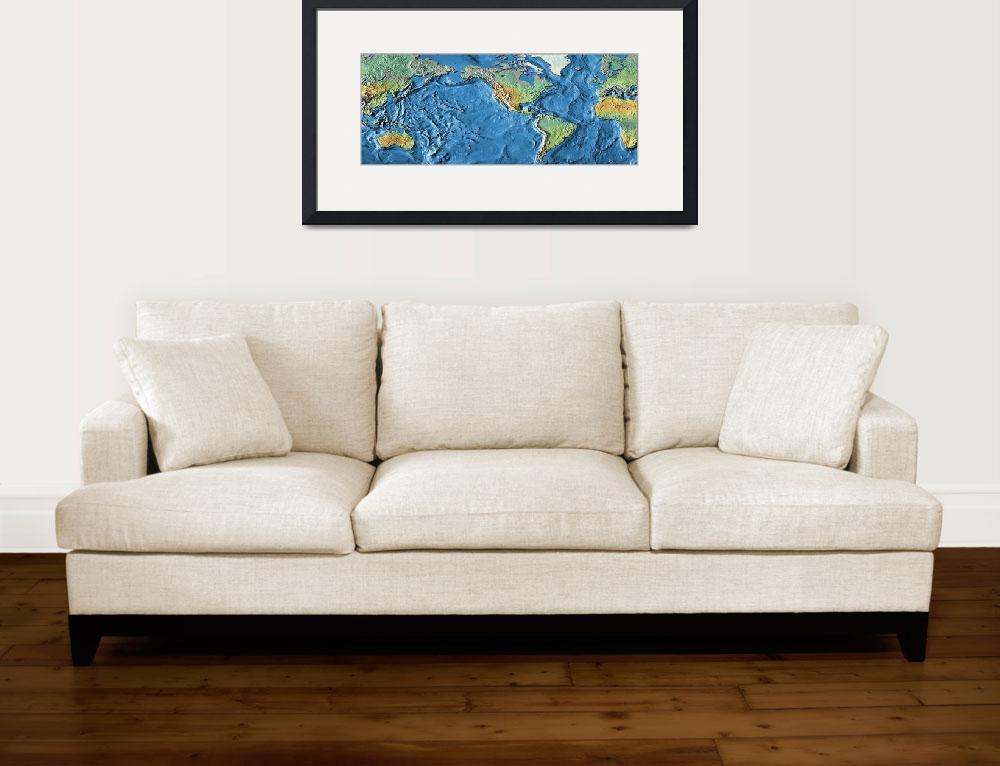 """""""Close-up of a world map&quot  by Panoramic_Images"""
