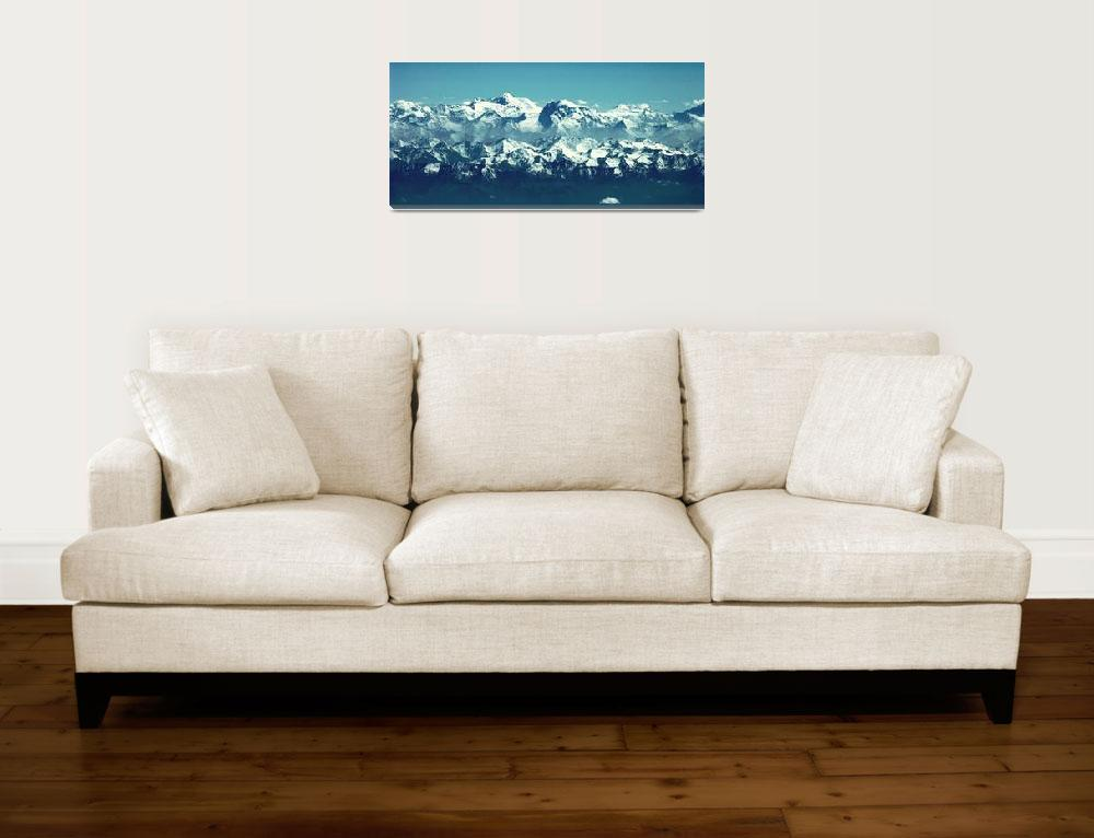 """Ismoil Somoni Peak Panorama Color 8""  (2006) by Liberando4Life"