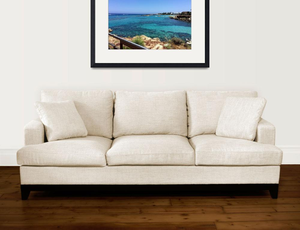 """""""Fig Tree Bay, Cyprus&quot  (2015) by Artsart"""
