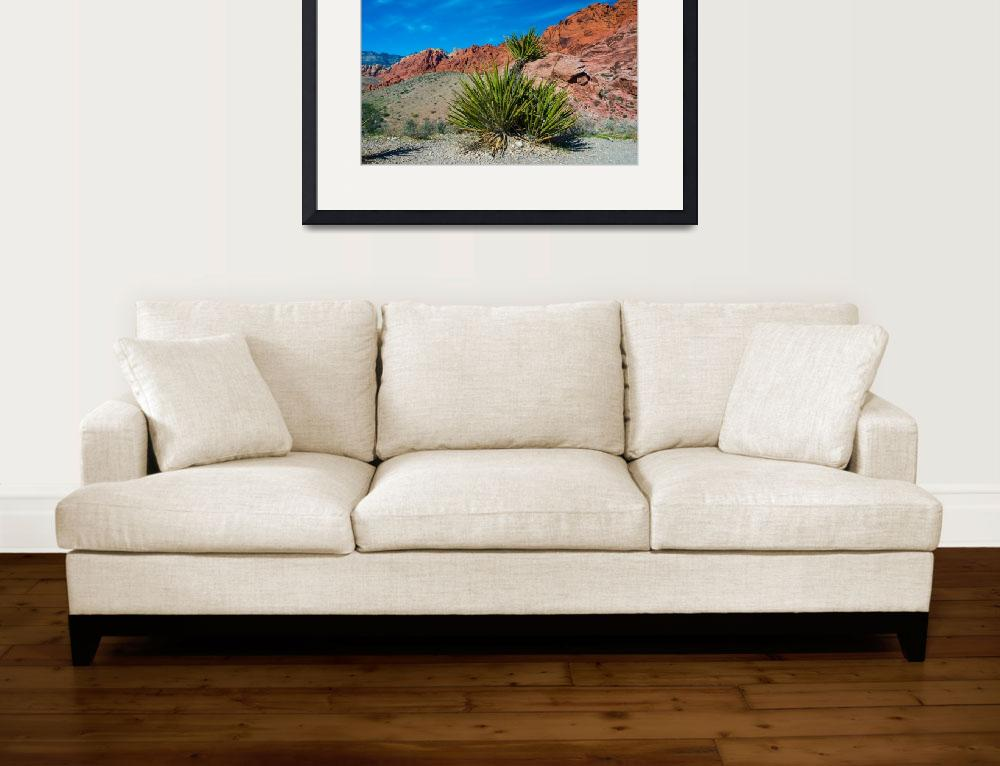 """Red Rock Canyon Desert Plains&quot  (2015) by photocatphoto"