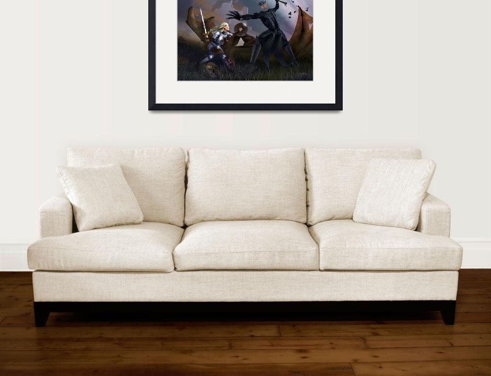 """""""Eowyn battles the Witch King&quot  (2011) by pmarq"""