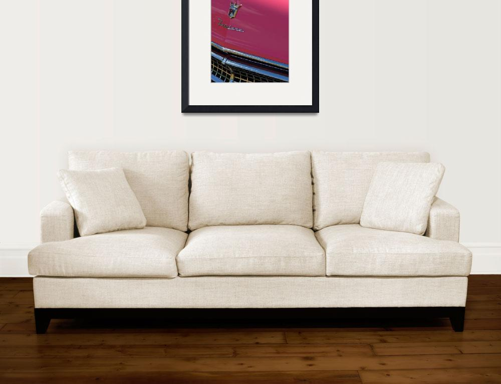 """""""Classic Car Ford Sunliner in Pink""""  (2010) by garthglazier"""