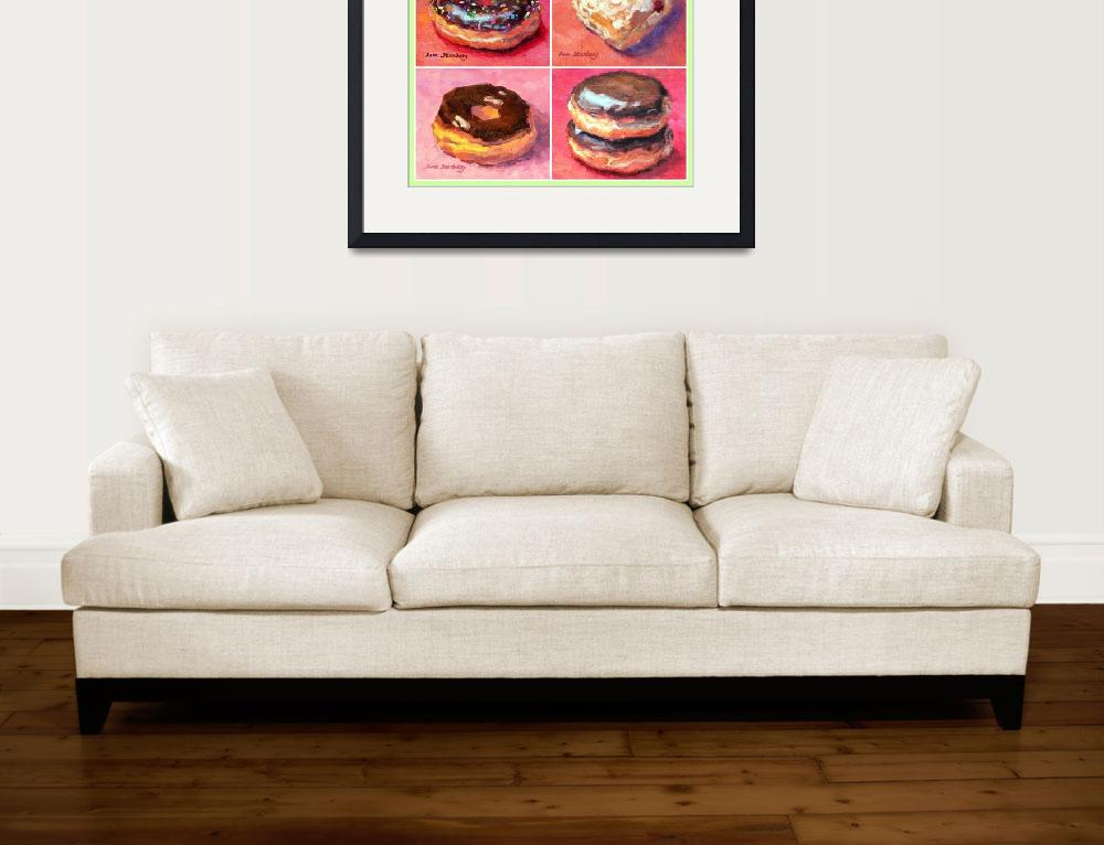 """""""I Love Donuts&quot  (2014) by KimStenbergFineArt"""