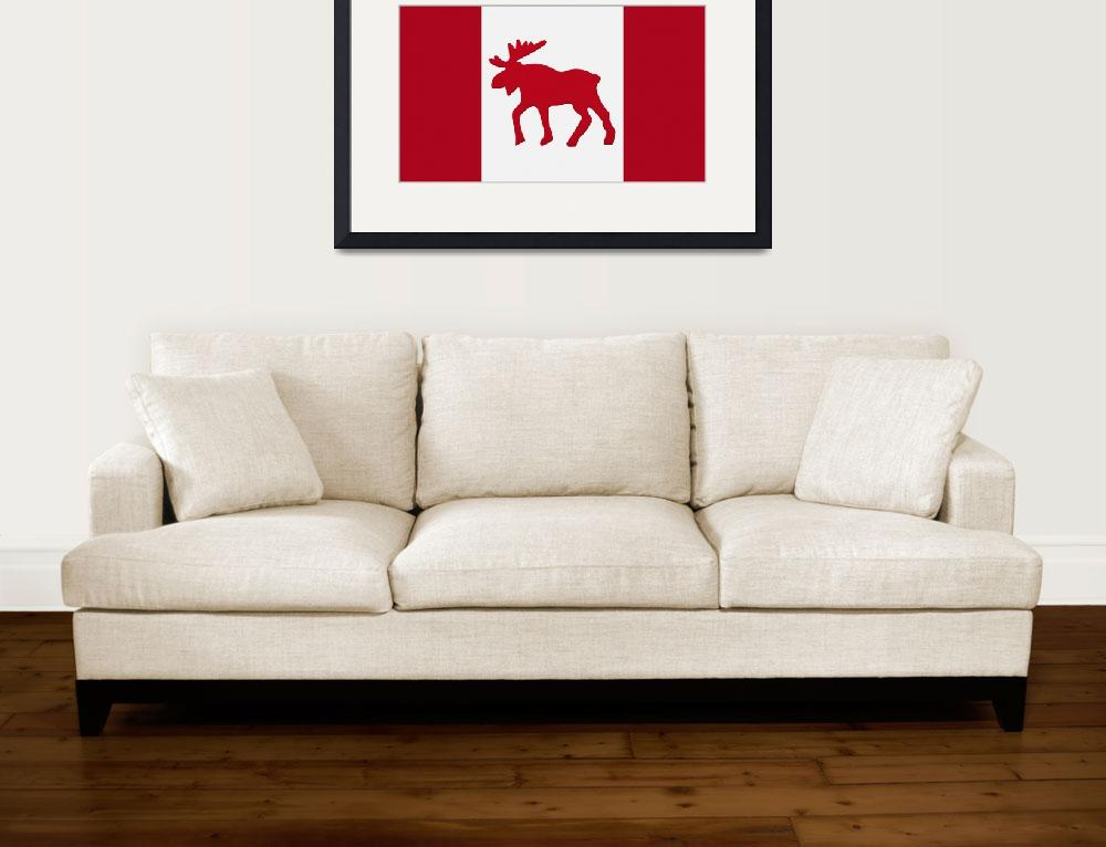 """Moose Emblem On Canadian Flag&quot  by DesignPics"