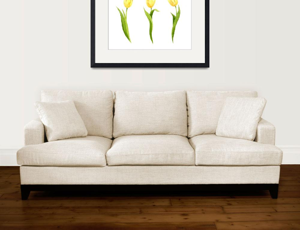 """""""Yellow Tulips&quot  (2017) by k9artgallery"""