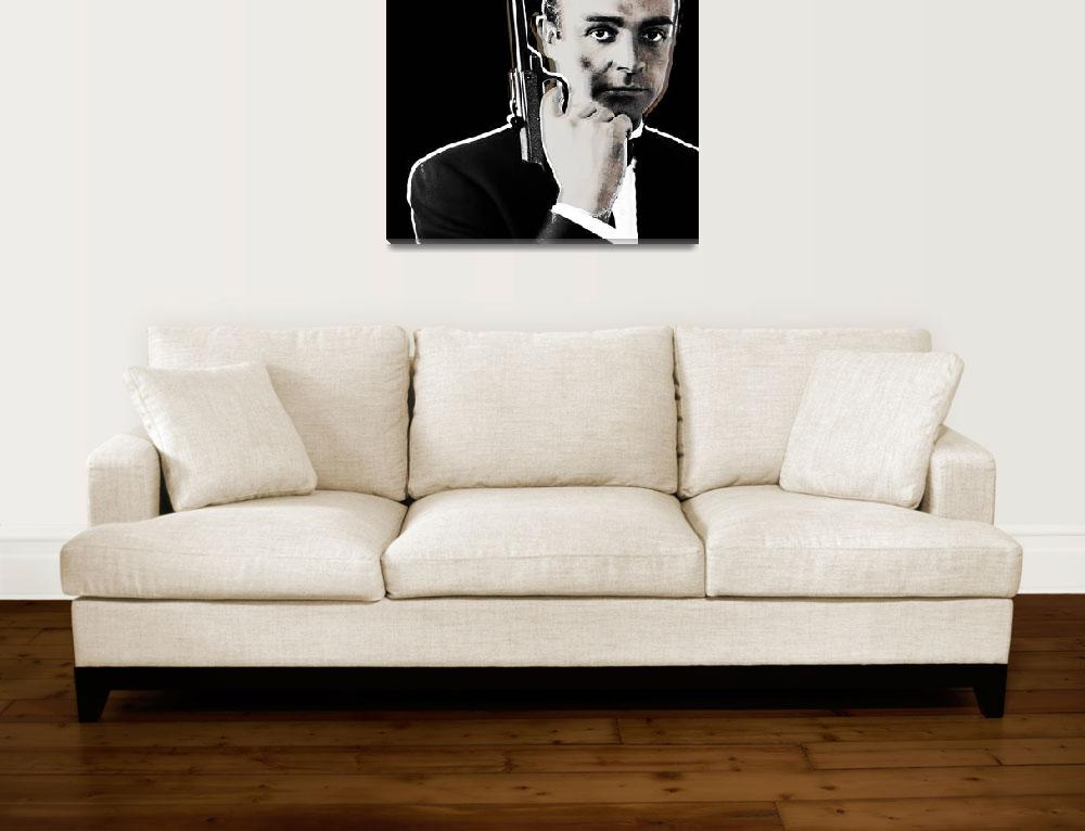 """""""Sean Connery James Bond Square""""  (2013) by RubinoFineArt"""