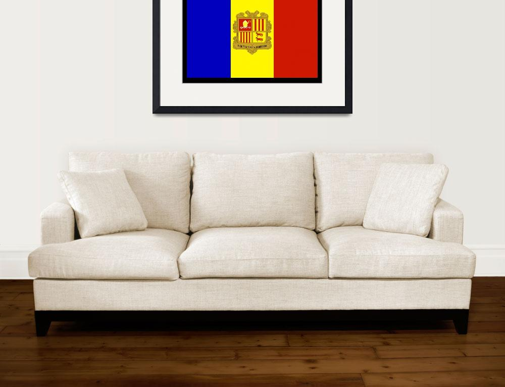 """""""Andorra Flag&quot  by KWGart"""