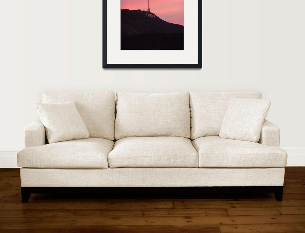 """""""Hollywood Sign&quot  (2008) by MarieSager"""