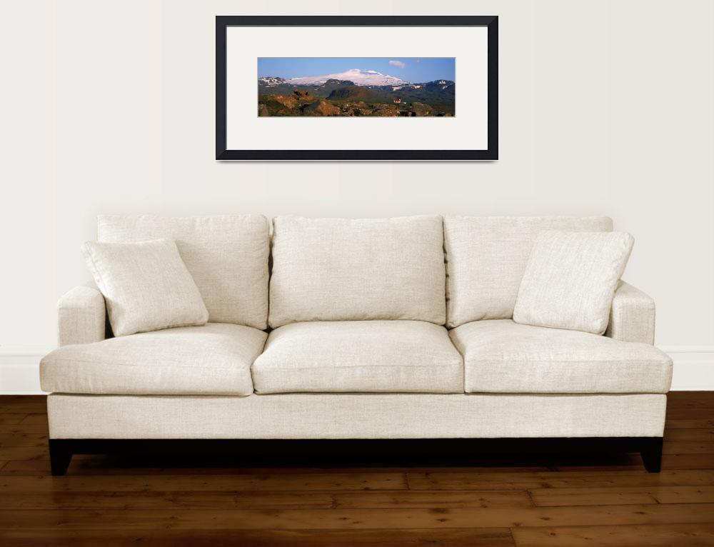 """""""Low angle view of a snowcapped peak&quot  by Panoramic_Images"""
